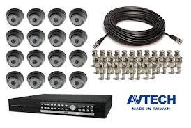 Paketan Camera CCTV IR Avtech 133