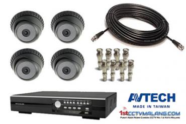 Paket Camera CCTV Avtech Dome IR 133 Terbaru