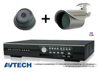 Paket CCTV IR Avtech Indoor dan Outdoor Camera