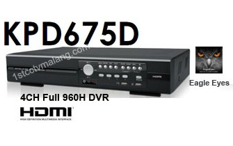 DVR 4 Channel Avtech KPD-675D Compatible with iOS & Android mobile