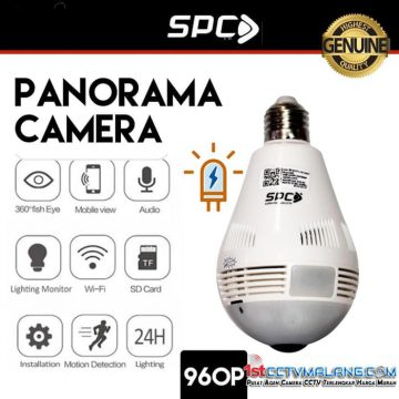 Paket Murah CCTV Wifi Wereless SPC Panorama Camera 1.3MP KST-5